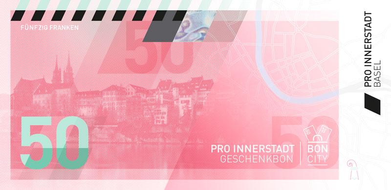 CHF 50.00 Pro Innerstadt Geschenkbon