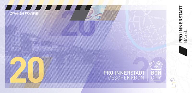 CHF 20.00 Pro Innerstadt Geschenkbon